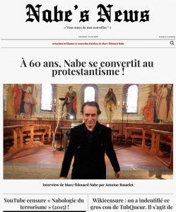Nabe's News - Numéro 19 - Protestantisme - Tuhqueur - Jean-Jacques George - Yann Moix - Jean-Louis Costes - Pacome Thiellement