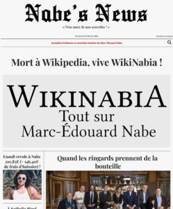 Nabe's News - Numéro 24 - Wikinabia - Rafael Enault - Yann Moix - David Vesper - Naima Haoulia - Mathieu Giroux